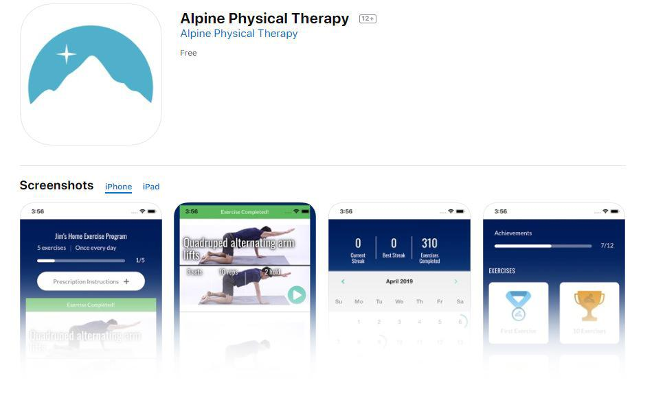 Alpine PT Launches New Exercise App!
